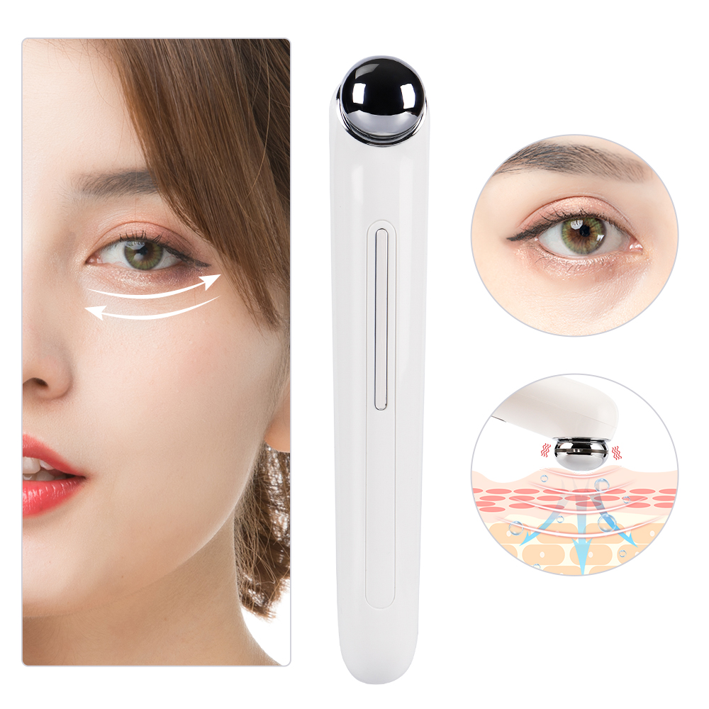 Mini Micro-current Eye Massager Anti-Ageing Wrinkle Dark Circle Pen Removal Rejuvenation Beauty Electric Vibration Eye Care Pen