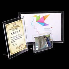 1 SET Acrylic Photo Frame Product Price Tag Display Stand Transparent Screws Advertising Europe High-End Fashion Picture Frames