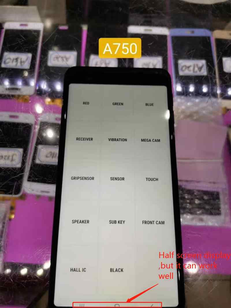 "6.0 ""Incell شاشات LCD لسامسونج غالاكسي A7 2018 LCD A750 A750F SM-A750F A750FN A750G شاشة الكريستال السائل و مجموعة المحولات الرقمية لشاشة تعمل بلمس"