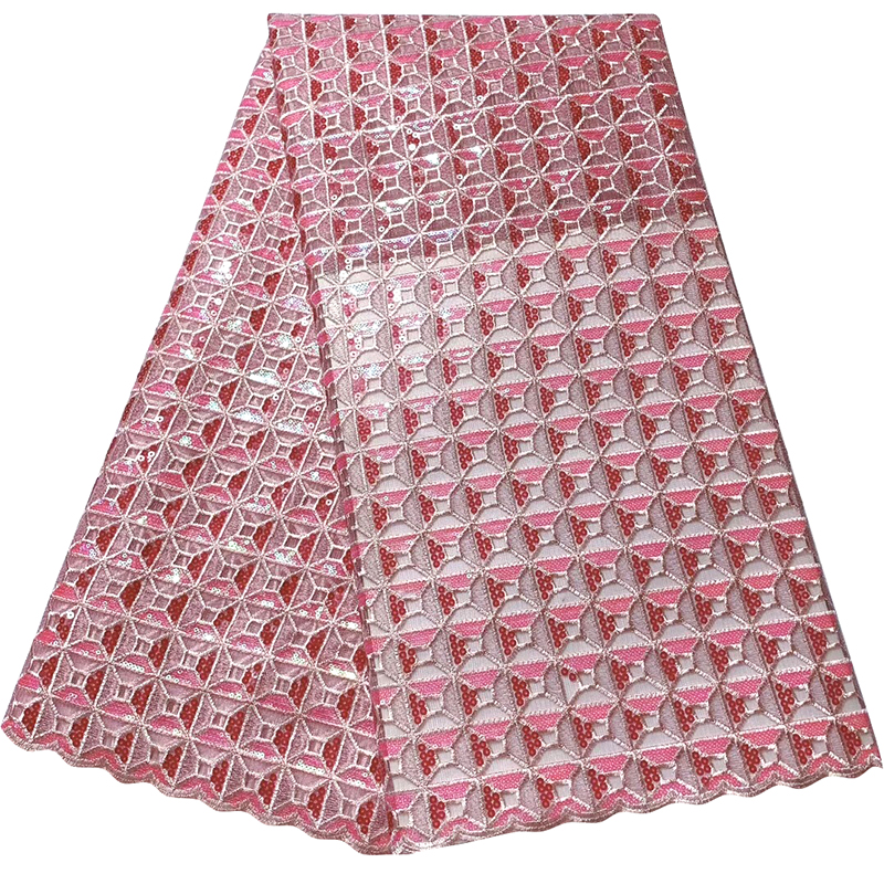 2020 High Quality French Tulle African Lace Fabric Sequins Embroidered Nigerian Lace Fabrics For Wowen Dress Salouva Broderie