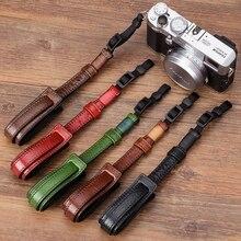Vintage correa de cámara de cuero genuino agarre Digital sin espejo cuerda para cámara correa de muñeca para Sony/Leica/Olympus/Panasonic/Fuji
