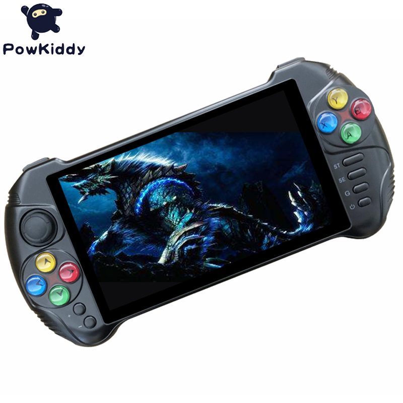 Powkiddy X15 Andriod Handheld Game Console 5.5 INCH 1280*720 Screen MTK8163 quad core 2G RAM 32G ROM Video Handheld Game Player 5