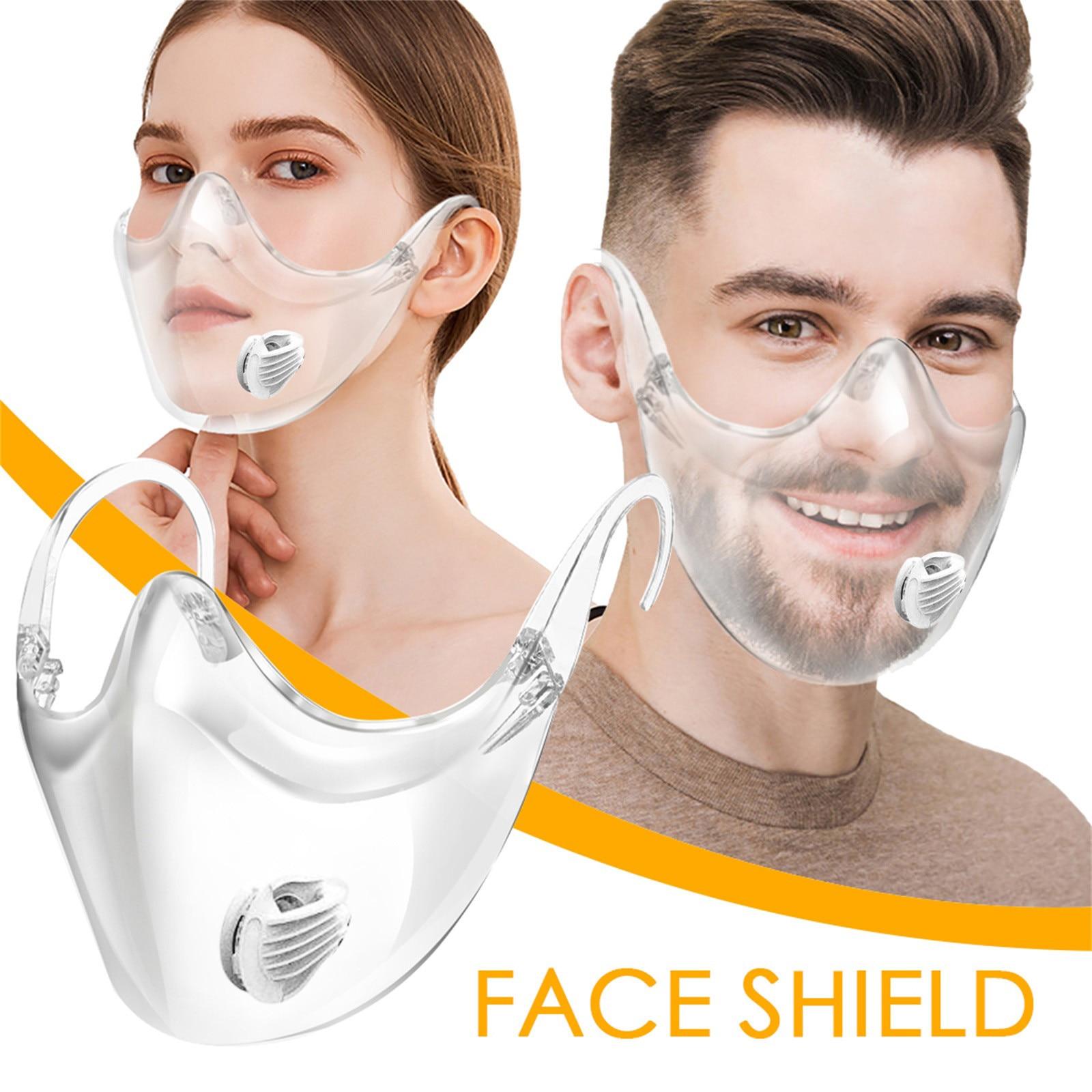 Маска для лица защитный рот шапки Kwashable прочный маска для лица Уход за кожей лица сочетают в себе Пластик многоразовая прозрачная маска для ...