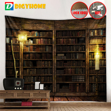 Tapestry Fantasy Magic Bookshelf Style Warm Feeling Beautiful Home Decoration Cool Polyester Thin Wall Hanging Cloth