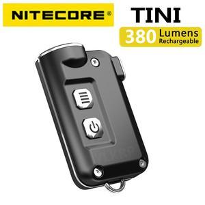 Image 1 - 2018 nowy Nitecore TINI 380 lumenów micro usb charging Mini metaliczny breloczek latarka