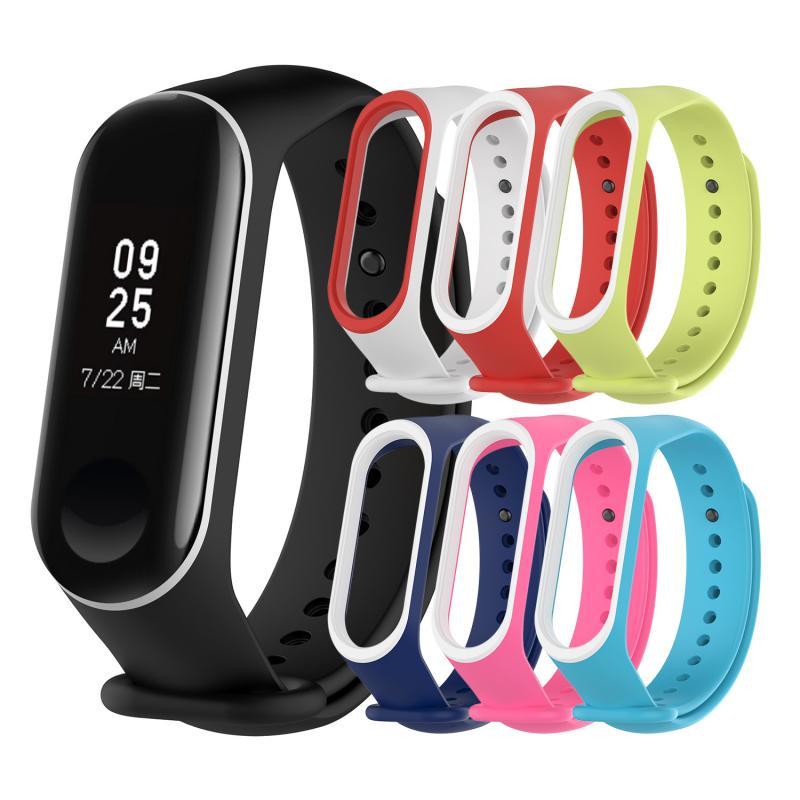 Для Xiaomi Mi Band 3 4 наручный ремешок двухцветный браслет для Xiaomi Mi Band 3/4 сменный смарт-браслет умные аксессуары