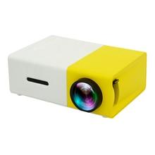 YG300 פרו מקרן LED 800 lumens 3.5mm אודיו 320x240 פיקסלים HD 1080P LED מקרן מיני USB בית מדיה נגן