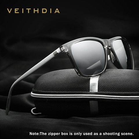 VEITHDIA Brand Unisex Retro Aluminum+TR90 Square Polarized Sunglasses Lens Vintage Eyewear Accessories Sun Glasses For Men/Women Karachi