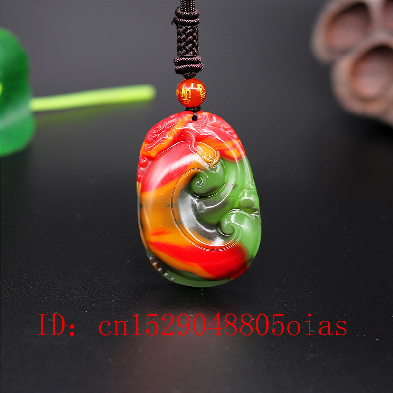 Natural Color Chinese Hetian Jade Dragon Pendant Ruyi Necklace Fashion Charm Jadeite Jewelry Carved Amulet Gifts For Women Men