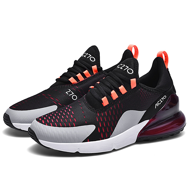 2019 Mens Mesh Breathable Running Shoes Casual Air Max Black White Size 46 Comfortable Tennis Sneakers Male Trainers Sport Shoes