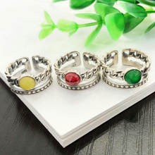 South Korea's Dongdaemun multi-layer braided ring female index finger s925 sterling silver inlaid with retro personality exagger