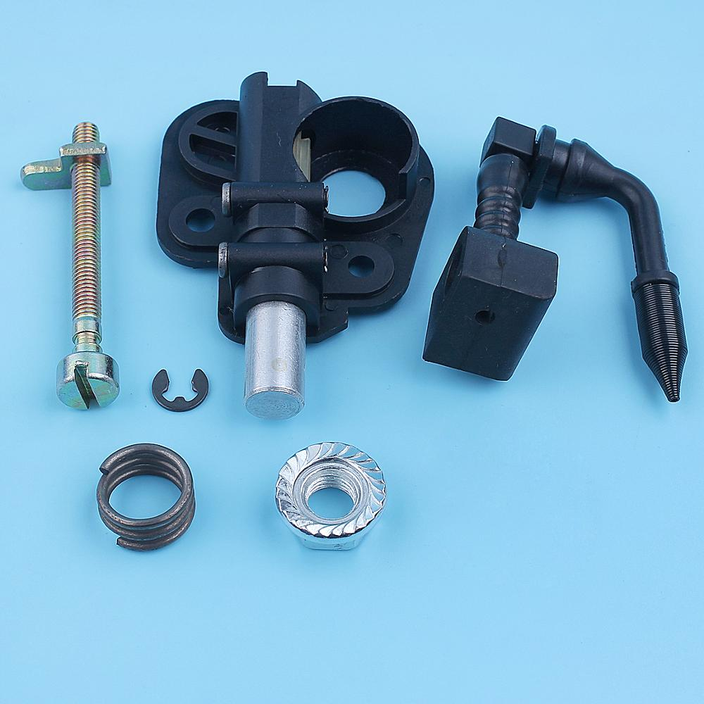 Oil Pump Worm Gear Chain Adjuster Bar Nut Kit For McCulloch MAC CAT 335 338 435 436 438 440 441 442 444 Chainsaw Spare Part