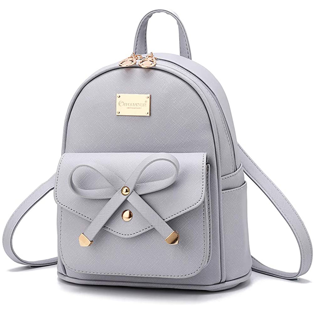 Girls Bowknot Cute Leather Backpack Mini Outgoing Backpack Purse for Women PU Leather Korean Backpack Women Backpack 2020