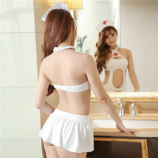2019 Women Sexy Lingerie Sex Products Roleplay Fancy Hot Bedroom Nurse Costume Nurse Outfit Dress & Hat Sexy Costumes