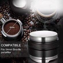 53mm distribuidor de café tamper nivelador dupla cabeça café nivelador ajustável profundidade espresso mão atarraxamento casa ferramenta para 54mm