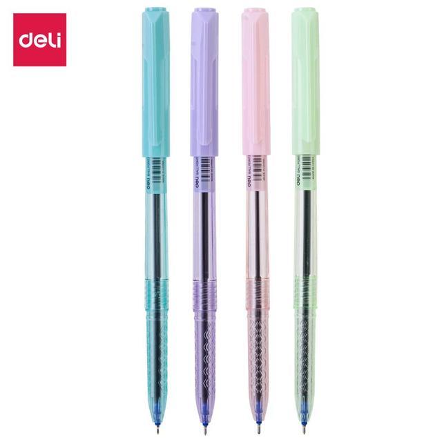 DELI Ball Point Pen 4 Pcs/Bag Color School Ballpoint Pen Mini tip 0.7mm EQ03032 1