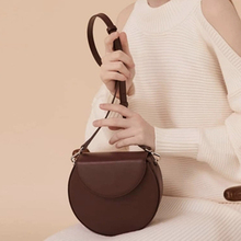 Simple Irregular Small Round Bag Women Shoulder Messenger Bag Brands Design Casual Crossbody Bag For Women Korean Style Purse simple candy colour and metal design crossbody bag for women
