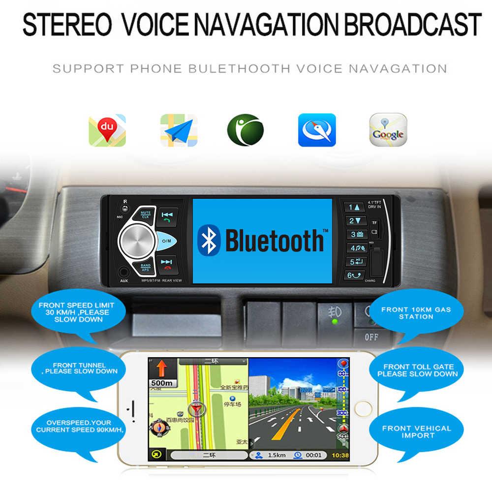 """Autoradio 4022D 4.1 """"1 Din Autoradio Audio stéréo USB AUX FM lecteur Station avec télécommande"""