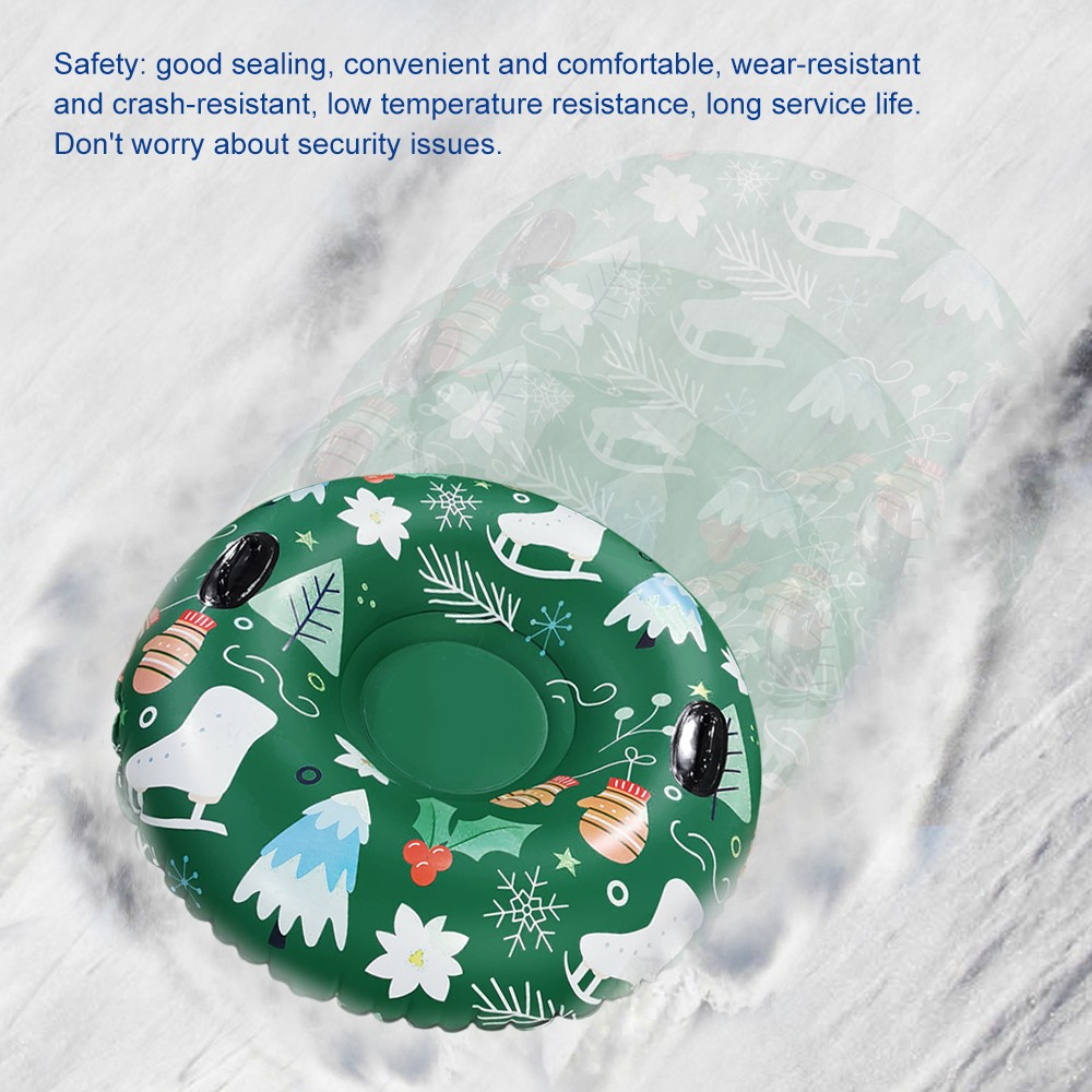 Hf87bf13e1d3f46ea8f561681061bc7b8c - Floated Skiing Board PVC Winter Inflatable Ski Circle With Handle Durable Children Adult Outdoor Snow Tube Skiing Accessories #C