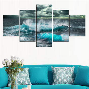 5 Pieces Panel Modern Canvas sea-3990228 Painting Wall Art The Picture For Home Decoration print Giclee Artwork For Wall Decor