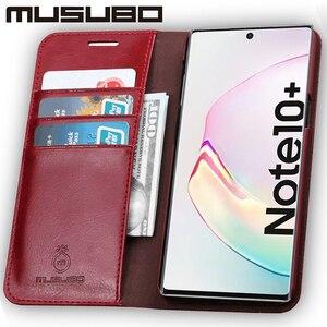 Image 5 - Muselo caso de luxo para samsung galaxy note 10 capa de couro genuíno para funda nota 9 aleta carteira s20 s10e s10 + cartão telefone coque