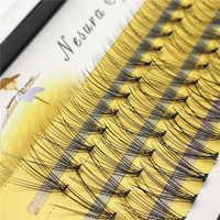 1 caja de gran capacidad de 60 paquetes de extensiones de pestañas 6d 10D 0,1mm de espesor real visón tira pestañas individuales naturales estilo