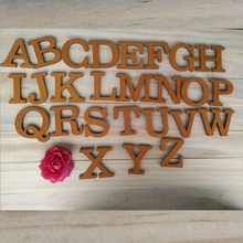New Retro 26pcs/set Wooden Fridge Magnetic Alphabet Home Decoration Accessories DIY Wall Magnets Letter Sticker