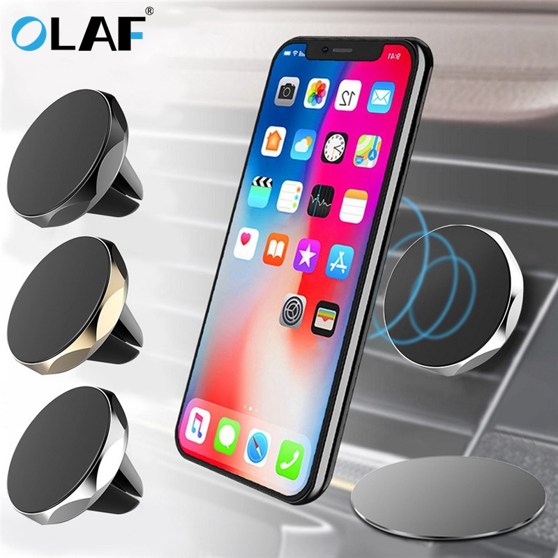 OLAF Universal Mini Car Phone Holder 360 Degree Rotatable Magnetic Air Vent Mount Car Holder Magnetism Mobile Phone Holder