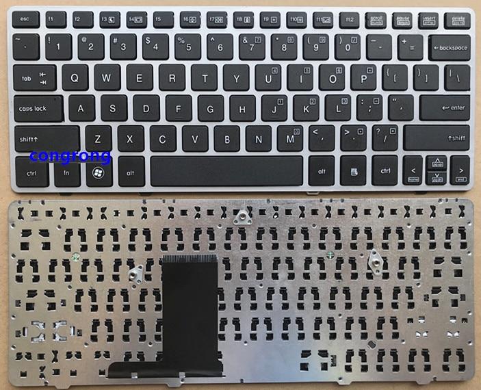 FOR HP EliteBook 2560 2560p Laptop Keyboard US Silver frame 696693 001 691658 001|Keyboards| |  - title=