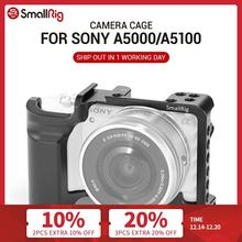 هيكل قفصي الشكل للكاميرا الصغيرة لـ SONY A5000 / A5100 مع ثقوب خيط تعليق الحذاء لشاشة الميكروفون نعلق على تسجيل الدخول 2226