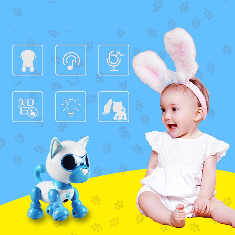 Electric Puppy Robot Touch Sense Sound Recording LED Eyes Interactive Kids Dogs Toys For Boys Girls