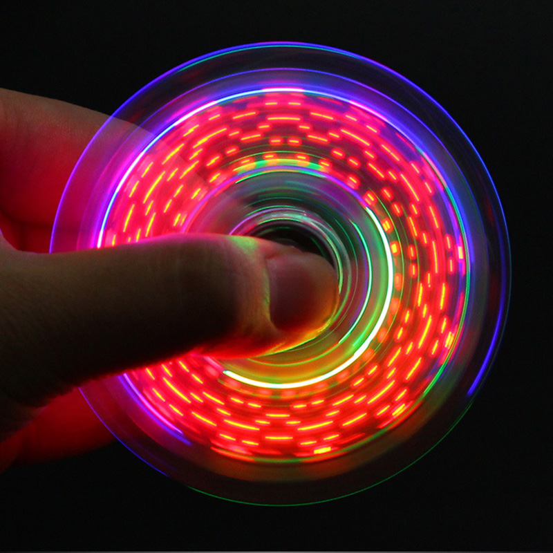 Fidget Spinner Glow in the Dark Adult Toy Anti Stress Led Tri Spinner Autism Luminous Spinners