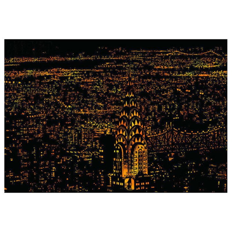 Creative Color Postcard Scraping Night Scenes Scratching Classical World Fashion City Sign Greeting Cards AXYF