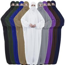 Islâmico Abaya Hijab Jilbab Khimar Overhead Burqa Oração Turco Dubai Vestido Kaftan Árabe Muçulmano Niqab Véu Vestido Com Capuz Robe Vestido