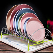 4Pcs Eco-Friendly Biodegradable Unbreakable Dinner Plates Set Wheat Straw Restaurant Specialty Saucer Plastic For Picnic Dishes