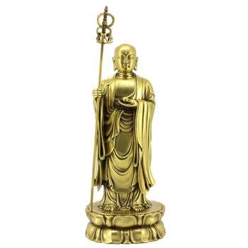 La colección budista de estatuas de bronce adorna artesanías