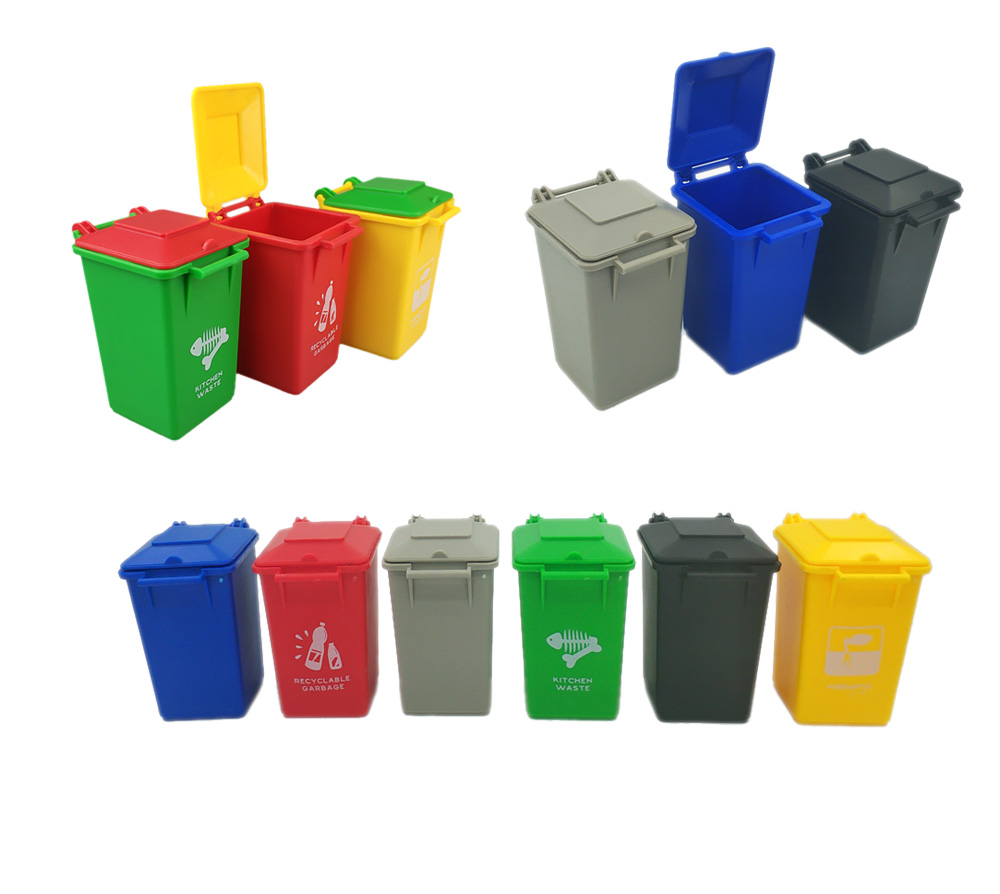 Curbside Trash And Recycle Can Set Pencil Cup Holder Single Sale Truck Cans