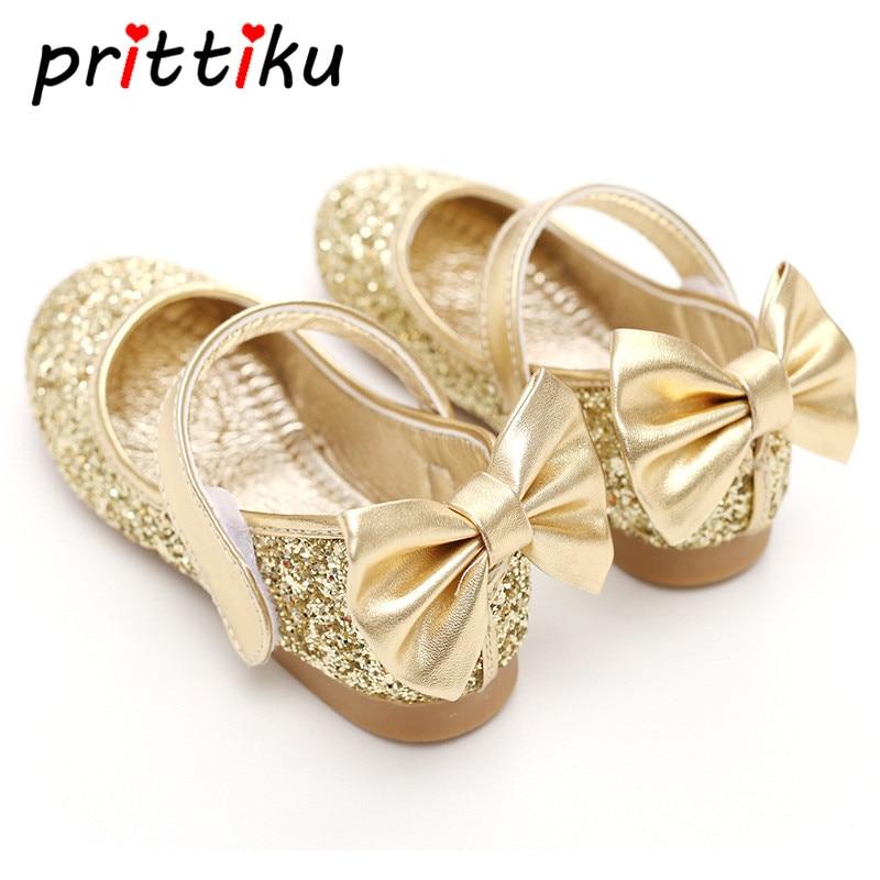 Baby Toddler Girls Gold Silver Glitter