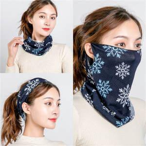 Scarves-Ring Spring-Mask Designer Wraps-Cover Bandana Warm Winter Women Cotton Face-Scarf