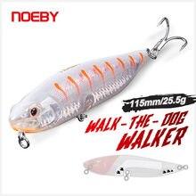 Noeby wobblers iscas de pesca 115mm 25.5g flutuante walker isca dura artificial lápis isca equipamento para o mar baixo pique pesca isca