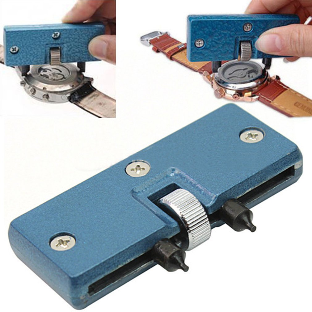 Two-Foot Large-Diameter Meter Alloy Cover Remover Watch Back Case Opener Screw Wrench Repair Tool Kit 1Pcs