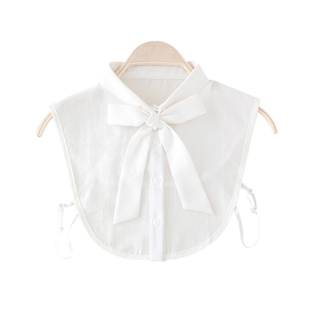 Women New Bow Collar Shirt Fake Collar Tie Vintage Detachable Collar False Collar Lapel Blouse Top Women Clothes Accessories