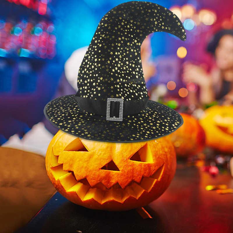 Хэллоуин взрослых ведьма шляпа голова для карнавального костюма-одежда маскарадная шапка ведьмы украшения вечерние шляпы Косплей Реквизит маскарадные платья Декор топ шапки