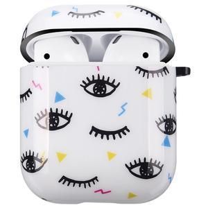 Image 3 - Conception de yeux mignons pour étui Apple AirPods, housse de protection souple IMD pour AirPods 1 & 2 charge pratique avec porte clés