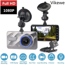 цена на Dash Cam New Dual Lens Car DVR Camera Full HD 1080P 4 IPS Front Rear Blue Mirror Night Vision Video Recorder Parking Monitor
