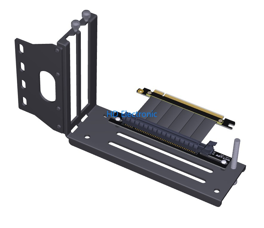 Graphics Cards Vertical Bracket PCIe 3 0 x16 graphics video card to PCIe 3 0 x16 slot extension cable for ATX chassis