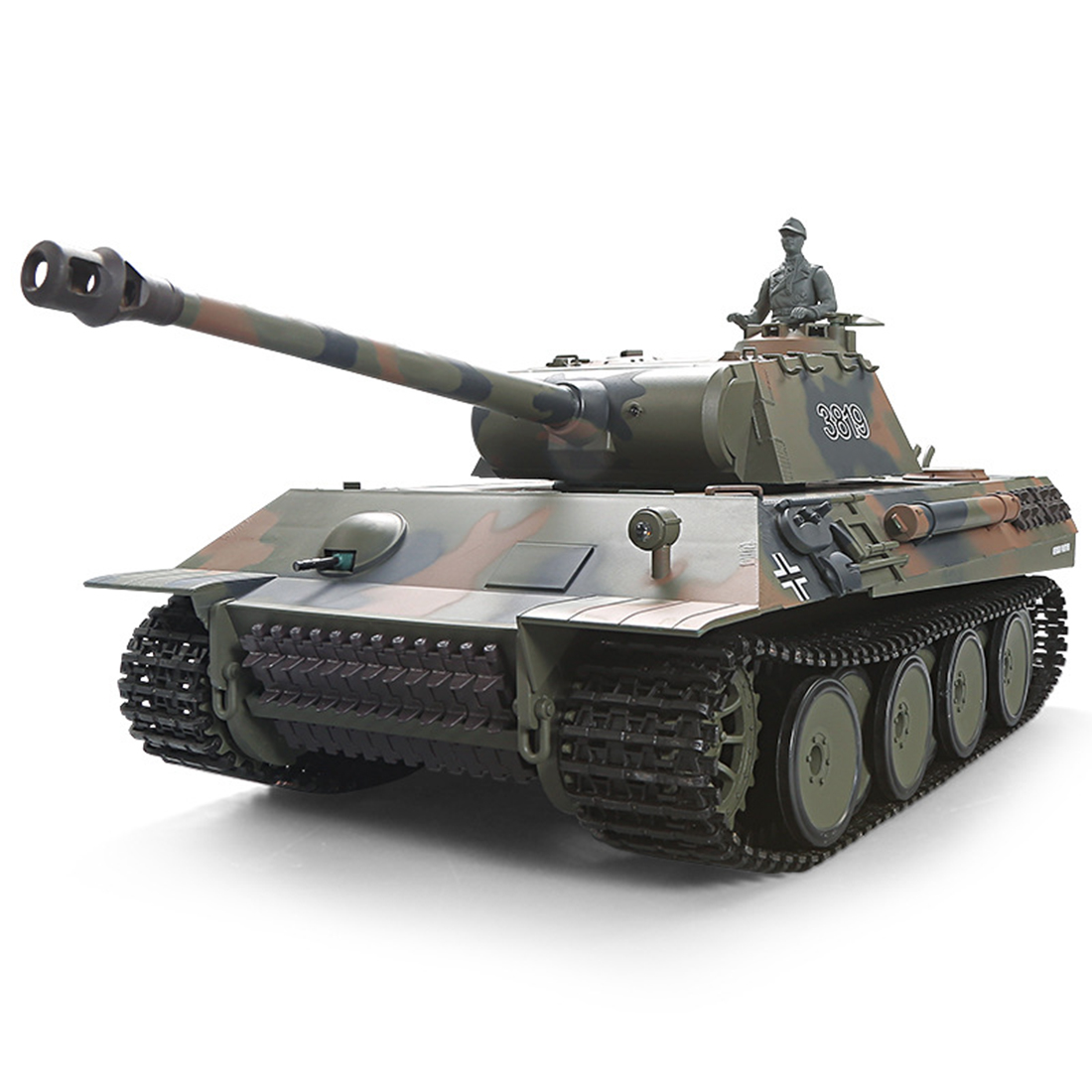 1set 1:16 German Leopard Heavy <font><b>Tank</b></font> 2.4G Remote Control Model Military <font><b>Tank</b></font> With Sound Smoke Shooting Effect image