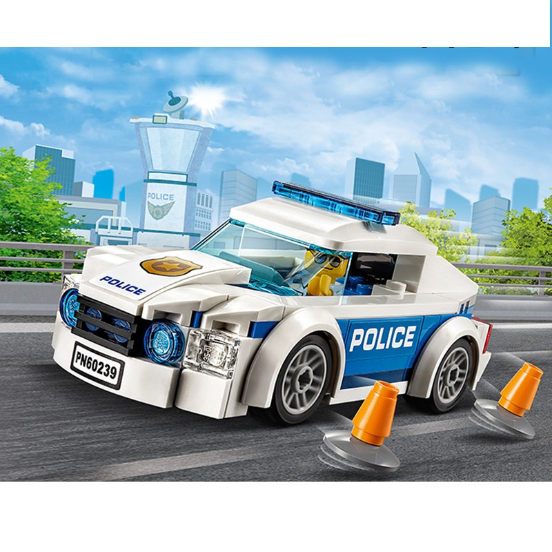 New 98pcs City Series Police Patrol Car Building Blocks 60239 Compatible City Police Brick Toy For Boy Gift 11206