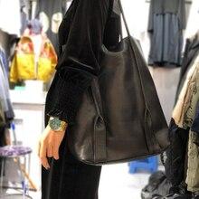Bandolera de cuero Natural Vintage para mujer, bolso de 100%, informal, de hombro, color liso, grande