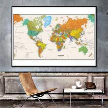 150x225cm The World 2011 World Map Posters and Prints modern Wall Art Picture Canvas Paintings for Living room Office Home Decor the modern world